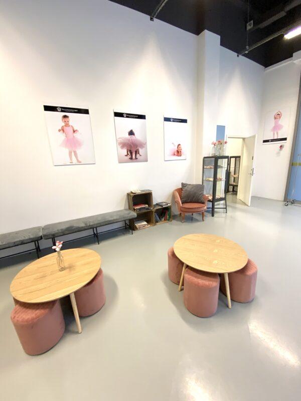 Foyer til balletskolen i City2 i Taastrup ved Høje Taastrup station